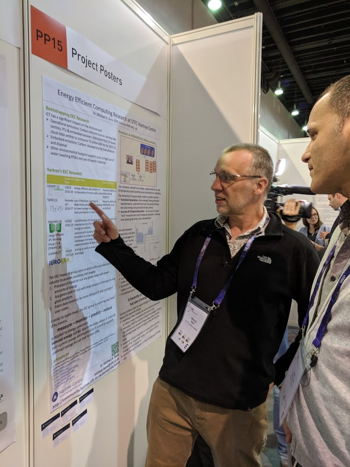 Michael Bane presented a poster about the energy efficient computing work taking place at the Hartree Centre.jpg